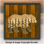 Bear Lighted Wilderness Wall Art Pattern