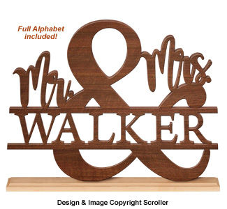 Mr & Mrs Mantel Sitter Pattern