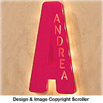 Lighted Initial Wall Art Pattern