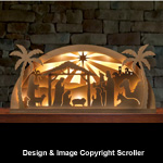 Lighted Arch Nativity Pattern