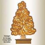 Lighted Mantel Tree Pattern