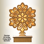 Lighted Mantel Snowflake Pattern