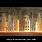 Lighted Mantel Village Pattern