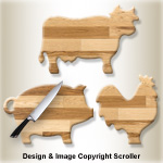 Country Cutting Boards Pattern - Downloadable