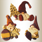 Gnome Intarsia Ornaments Design Pattern