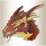 Western Dragon Intarsia Design Pattern
