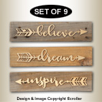 Inspirational Arrow Wall Art Plaque Patterns
