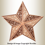 Ornate Scrolled Star Project Pattern