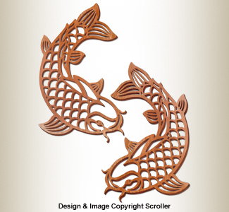 Decorative Koi Wall Art Designs Pattern