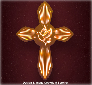 Lighted Dove Wall Cross Pattern