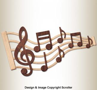 Music Note Wall Art Pattern
