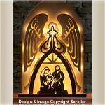 Lighted Angel Nativity Pattern