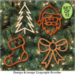 Festive Christmas Ornaments Pattern