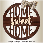 Home Sweet Home Wall Art Pattern