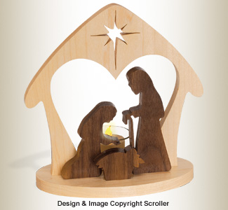 Candlelit Nativity Pattern - Downloadable