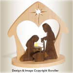 Candlelit Nativity Pattern