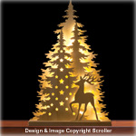 Lighted Holiday Deer Display Pattern