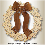 Scrolled Holiday Door Wreath Pattern