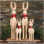 Compound Cut Deer Family Pattern
