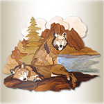 Wilderness Wolves Intarsia Design Pattern