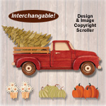 Swappable Holiday Farmhouse Truck Pattern