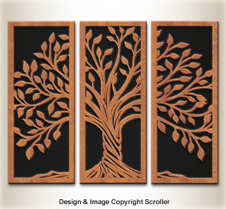 Tree of Life Wall Panel Display