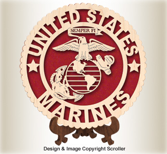 Military Seal & Stand Design (Marines) Pattern