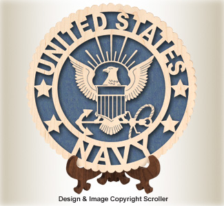 Military Seal & Stand Design (Navy) Pattern