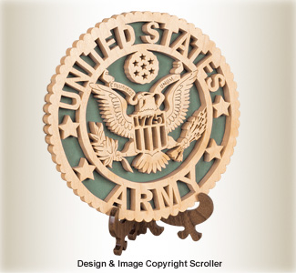 Military Seal & Stand Design (Army) Pattern