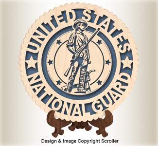 Military Seal & Stand Design (National Guard) Pattern
