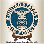 Military Seal & Stand Design (Air Force) Pattern