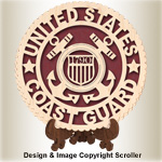 Military Seal & Stand Design (Coast Guard) Pattern