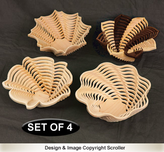 Set of 4 Stylish Stacked Bowl Designs #2 Pattern - Downloadable