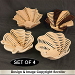 Set of 4 Stylish Stacked Bowl Designs #2 Pattern