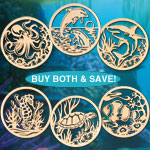 Underwater Sea Creatures Combo Scroll Saw Pattern Set - Downloadable