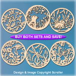 Spring Creature Wall Art Pattern Combo Set