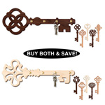 Ornate Key Hanger & Ornament<br> Combo Pattern Set