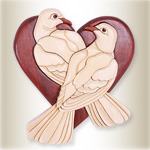 Love Doves Intarsia Pattern