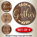 Rustic Round Skid Signs Pattern