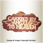 Carried by Angels Wall Plaque Pattern - Downloadable