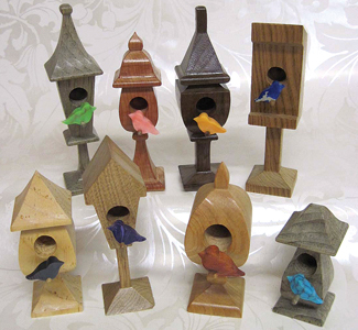 Compound Cut Standing Birdhouse Project Patterns