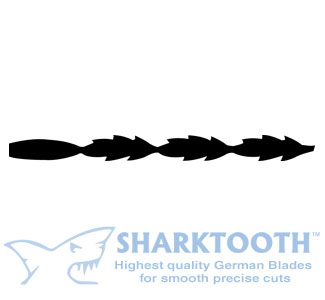 SHARKTOOTH <BR>Scroll Saw Blades<br>Specialty Spiral - Plain End