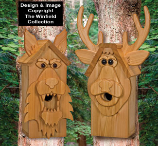 Cedar Deer & Wolf Birdhouse Plans