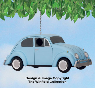VW Beetle Birdhouse Pattern
