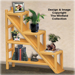 Staircase Shelving Unit Plan